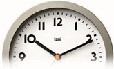 View all bai design easy-viewing clocks